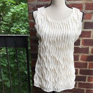 Chico's Cream Tank Top Size 1